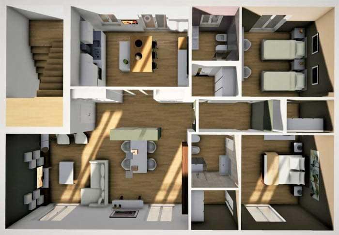 بازسازی آپارتمان 50 متری